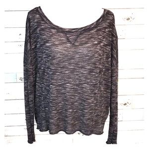 Threads 4 Thought charcoal heathered top small 013